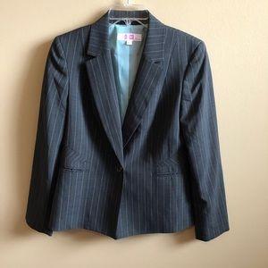 Pin Stripe Blazer Long Sleeve Classic Pockets